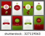 christmas backgrounds set | Shutterstock .eps vector #327119063