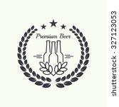 beer brewery emblems  logo ... | Shutterstock .eps vector #327123053