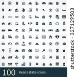 real estate icons vector set. | Shutterstock .eps vector #327129503