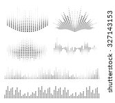 vector sound waves set. music... | Shutterstock .eps vector #327143153