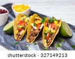mexican food   delicious tacos... | Shutterstock . vector #327149213