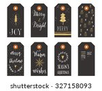 collection of christmas gift... | Shutterstock .eps vector #327158093