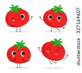 Tomato. Cute Vegetable Vector...