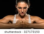 mixed martial arts fighter... | Shutterstock . vector #327173153