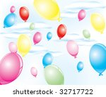 colorful party balloons | Shutterstock .eps vector #32717722
