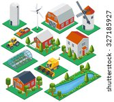 Isometric Rural Buildings And...