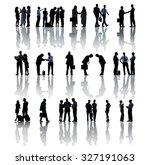 business people meeting... | Shutterstock . vector #327191063