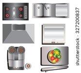 Kitchen Equipment  Top View Se...