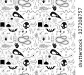 seamless pattern with skulls... | Shutterstock .eps vector #327208757
