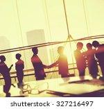 business people meeting... | Shutterstock . vector #327216497