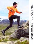 Runner. Sport Running Man In...