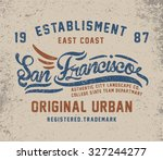 san francisco city vintage t... | Shutterstock .eps vector #327244277
