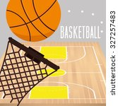 basketball sport design  vector ... | Shutterstock .eps vector #327257483