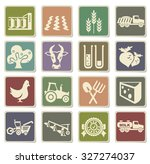 agricultural icons for web and... | Shutterstock .eps vector #327274037