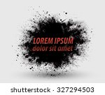 cloud of dust explosion grunge... | Shutterstock .eps vector #327294503