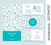 set of flyer  brochure and... | Shutterstock .eps vector #327294707