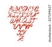 font alphabet set. hand drawn... | Shutterstock .eps vector #327299627