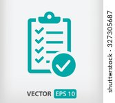 checklist icon. one of set web... | Shutterstock .eps vector #327305687