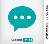 speech bubble icon. one of set...