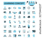 learning concept icons | Shutterstock .eps vector #327344237