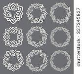 set of round frames. nine... | Shutterstock .eps vector #327345827