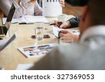 ambitious business people... | Shutterstock . vector #327369053