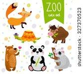 vector illustration of animal ...   Shutterstock .eps vector #327370523
