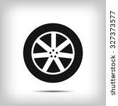 wheel icon | Shutterstock .eps vector #327373577