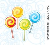 Four vector lollipops - stock vector