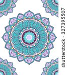 card or invitation with mandala ... | Shutterstock .eps vector #327395507