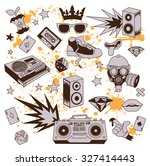 beautiful set of high quality... | Shutterstock .eps vector #327414443