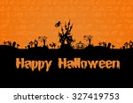 halloween background. halloween ... | Shutterstock . vector #327419753