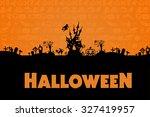 halloween background. halloween ... | Shutterstock . vector #327419957