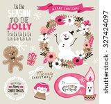 set of christmas design elements | Shutterstock .eps vector #327424097