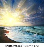 sea sunset | Shutterstock . vector #32744173