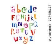 abc color watercolor poster... | Shutterstock . vector #327456137