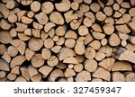 Stack Of Wood Prepared For...