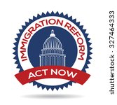 immigration reform seal | Shutterstock .eps vector #327464333