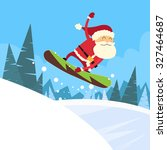 santa clause snowboarder...