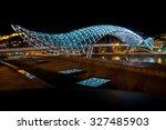 the bridge of prace in tbilisi  ...