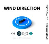 wind direction icon  vector...