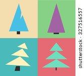 christmas tree set. cartoon...   Shutterstock .eps vector #327516557