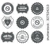 vintage emblems  labels. stop... | Shutterstock .eps vector #327524213