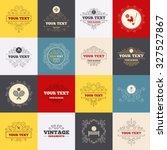 vintage frames  labels. tennis... | Shutterstock .eps vector #327527867