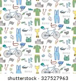 seamless background bicycle... | Shutterstock .eps vector #327527963