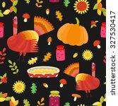 vector thanksgiving seamless... | Shutterstock .eps vector #327530417