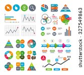 Business Data Pie Charts Graph...