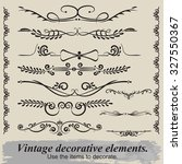 vintage decorative elements. | Shutterstock .eps vector #327550367