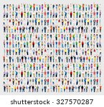 multiethnic casual people...   Shutterstock . vector #327570287