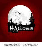 halloween background poster on... | Shutterstock . vector #327596807